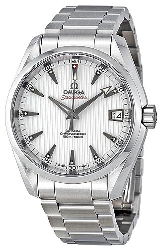 Omega de hombre 23110392154001 Seamaster Aqua Terra esfera blanca reloj: Omega: Amazon.es: Relojes