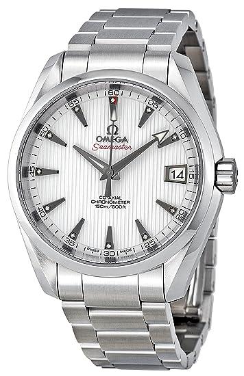 Omega de hombre 23110392154001 Seamaster Aqua Terra esfera blanca reloj