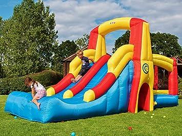 BeBop Kamikaze Gran Castillo Hinchable y Doble Tobogán Hinchable: Amazon.es: Juguetes y juegos