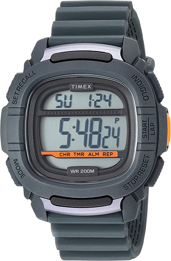 Timex Mens Command 47mm Silicone Strap Watch