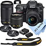 Nikon D7500 DSLR Camera Kit with 18-55mm VR + 70-300mm Zoom Lenses | Built-in Wi-Fi | 20.9 MP CMOS Sensor | EXPEED 5…