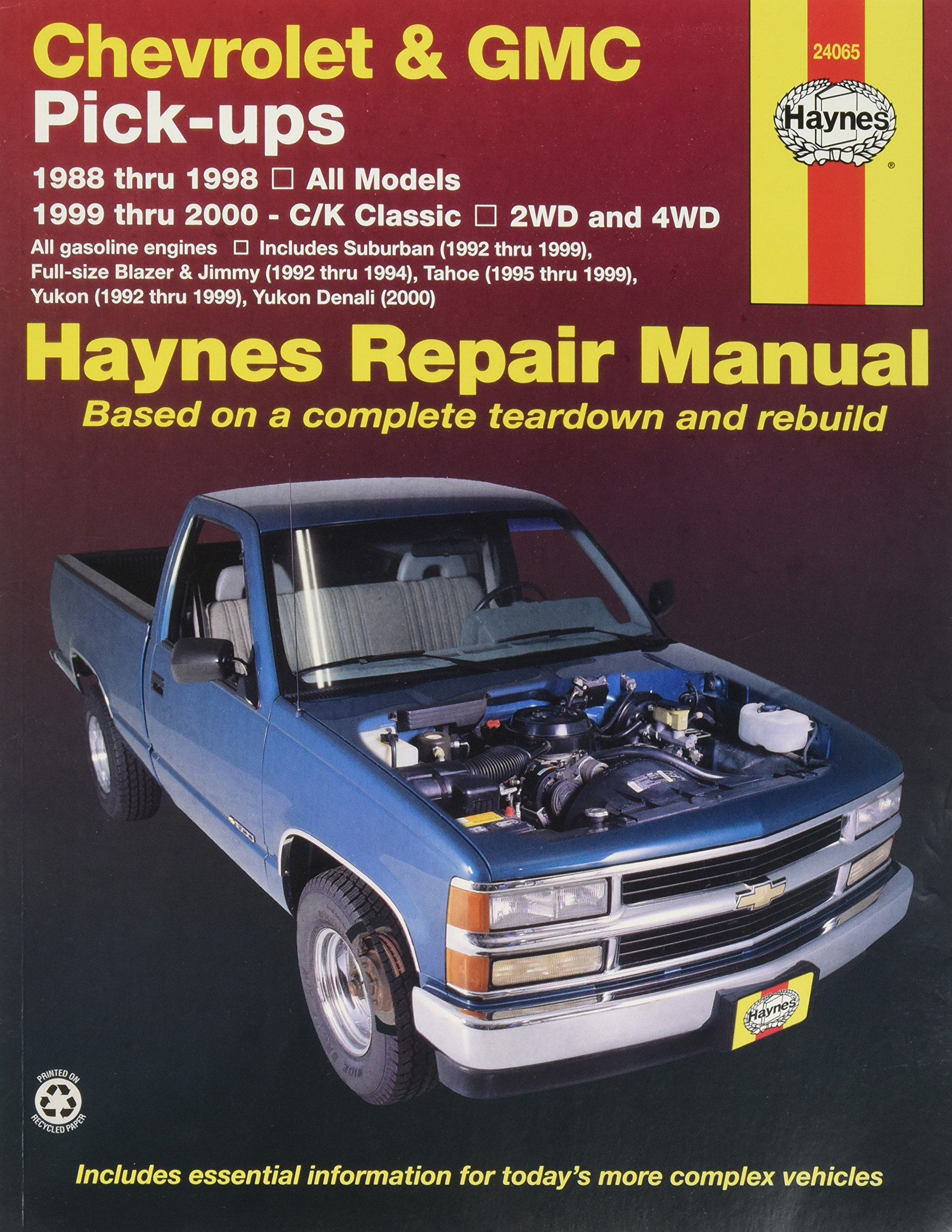 haynes repair manual for chevy pick up number 24065 automotive rh amazon com 1987 GMC Sierra Classic 1987 GMC Sierra Classic