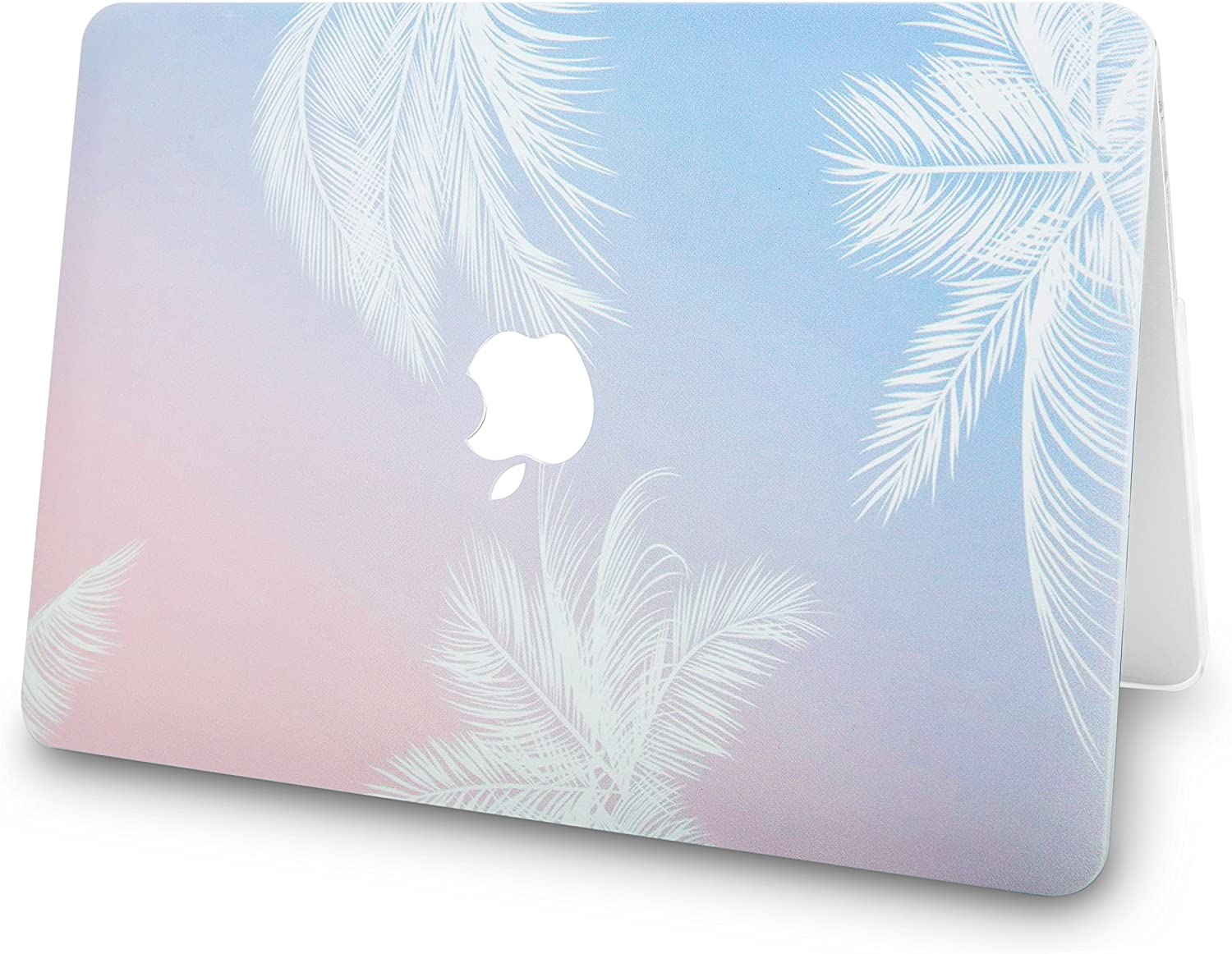 Sleeve 2020//2019//2018, Touch ID Screen Protector A1932 Blue Feather w//UK Keyboard Cover Plastic Hard Shell KECC MacBook Air 13 Retina
