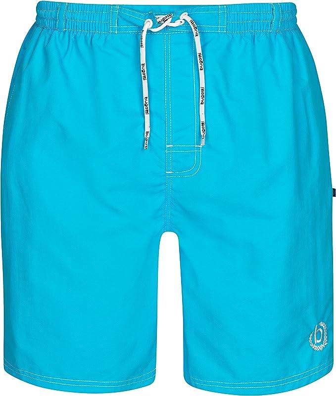 TALLA XL. Moderno bañador Bugatti®para hombre de color verde menta, naranja, azul marino, rojo, azul claro o negro