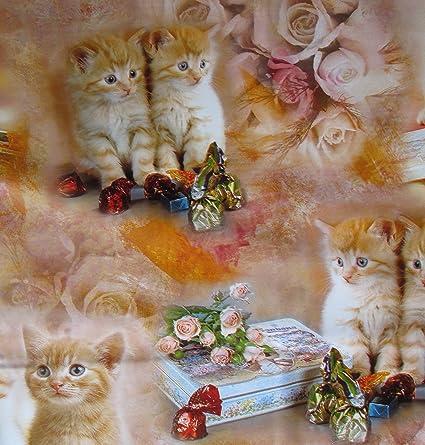 Cuadros mantel 110 x 140 cm, gatos/eléctrico, cera para mesa
