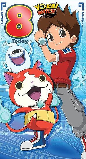 Yo-Kai reloj edad 8 Tarjeta de cumpleaños