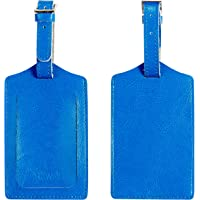 BSWolf Genuine Leather Luggage Tag Travel Suitcase Bag Baggage Tags 2 pcs Set