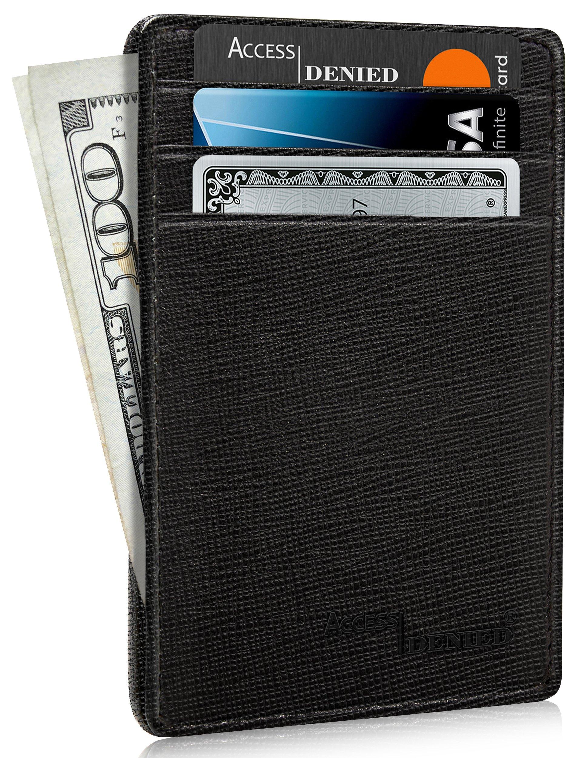 Slim Minimalist Wallets for Men & Women - Front Pocket Wallet RFID Blocking Card Holder