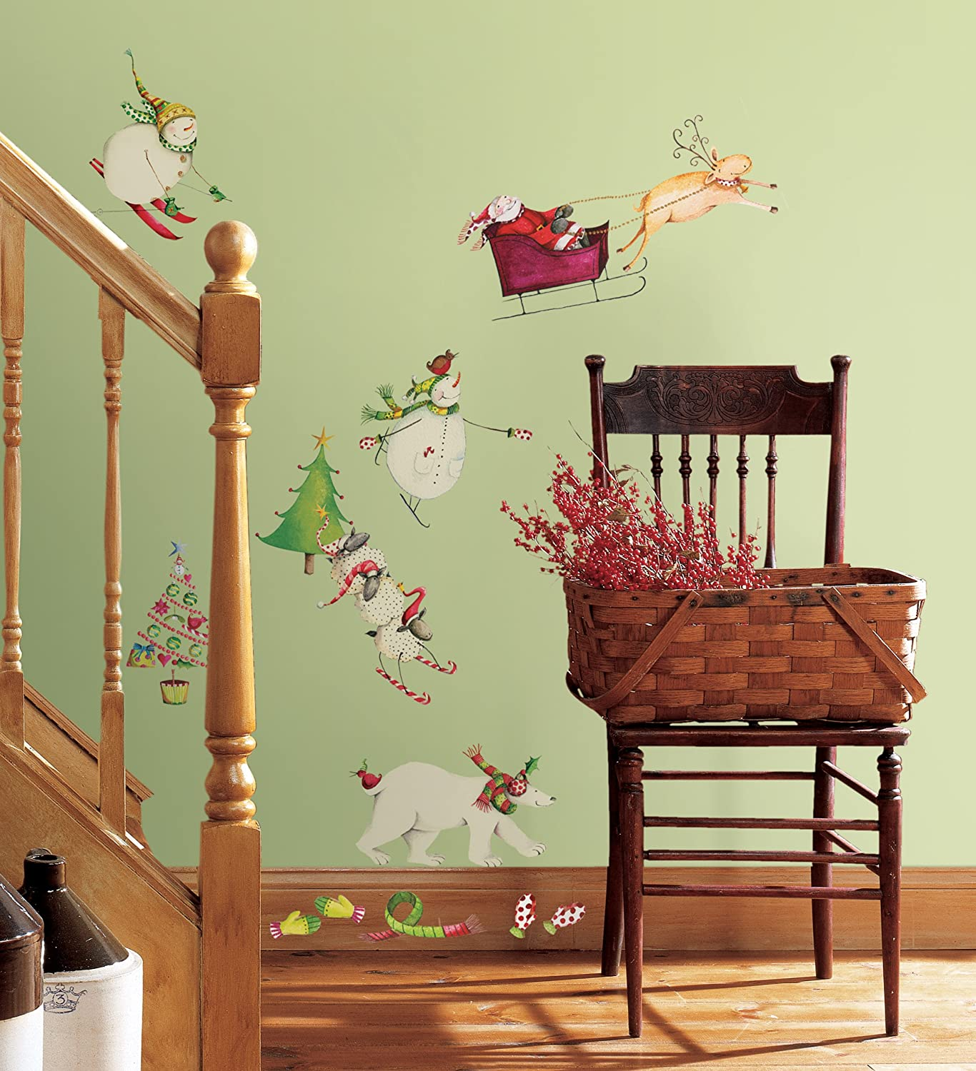 RoomMates RMK1182SCS Winter Holiday Peel & Stick Wall Decals ...