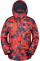 Mountain Warehouse Mens Shadow Snowproof Printed Ski Jacket Insulated Fleece Lined