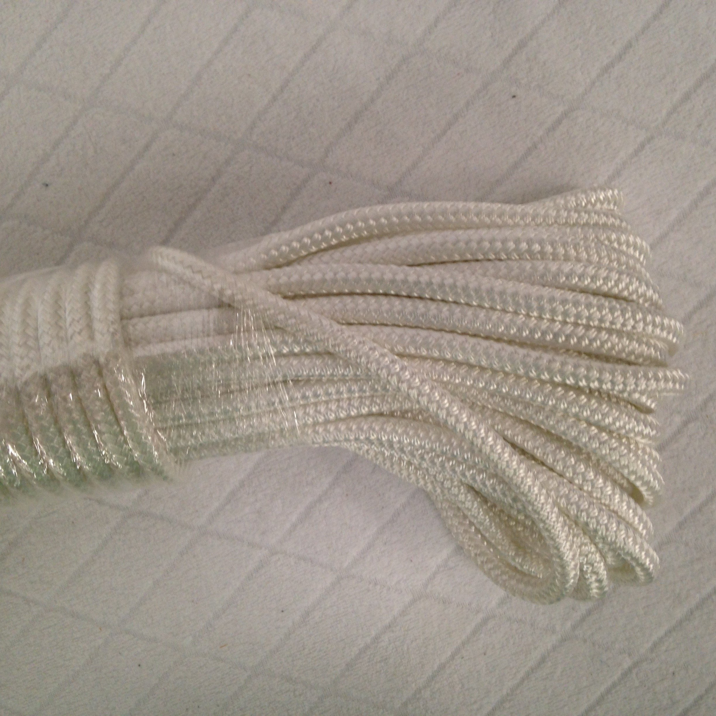 Blue Ox Rope Double Braid Polyester Halyard Flagpole Line, 5/16'' X 100' White