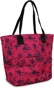 J World New York Women's Sunrise Rolling Backpack Travel Tote, Bellis, One Size