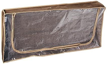 Household Essentials Underbed Storage Chest Coffee Linen  sc 1 st  Amazon.com & Household Essentials Underbed Storage Chest Coffee Linen