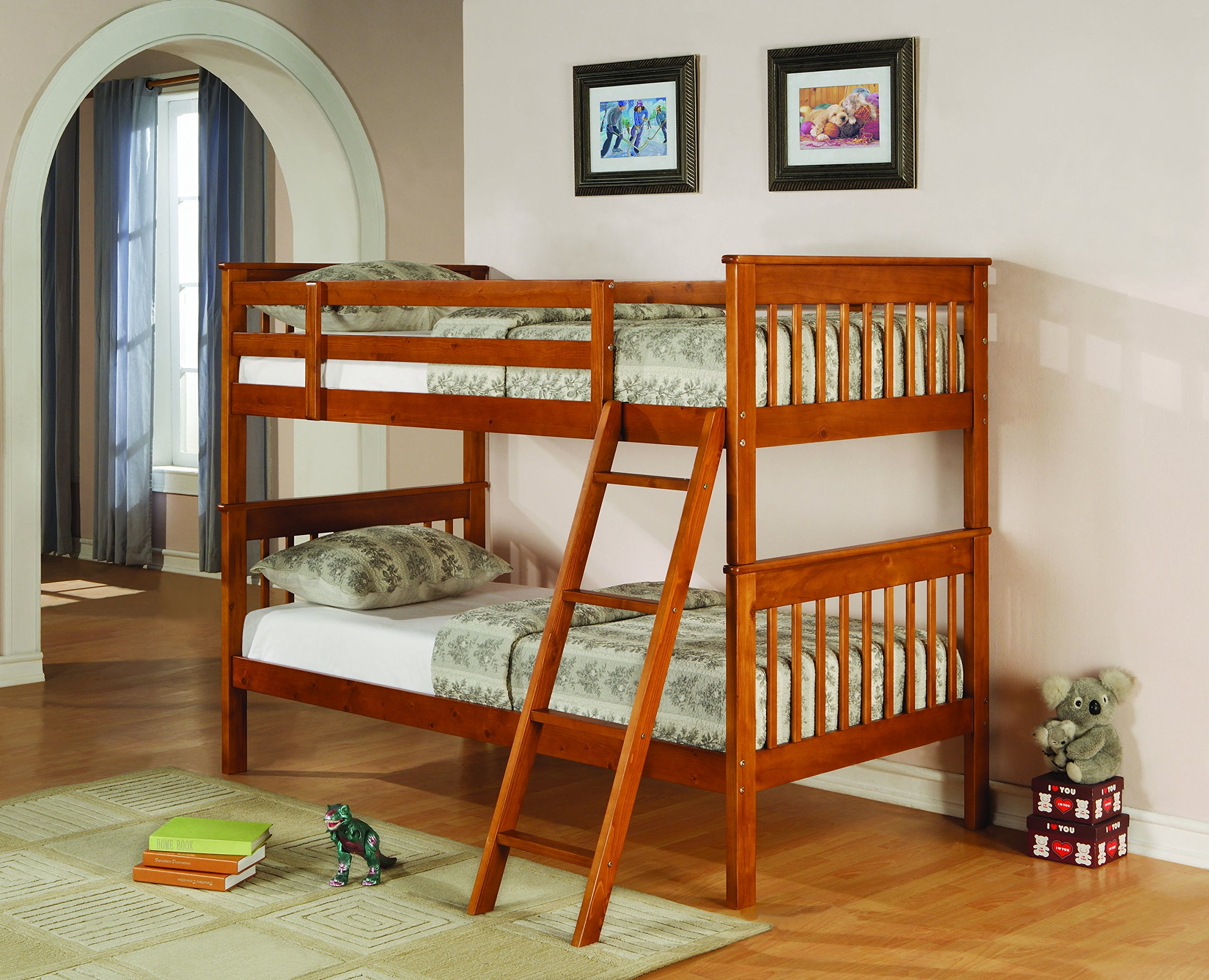 Coaster Home Furnishings 460233 Transitional Bunk Bed, Distressed Pine