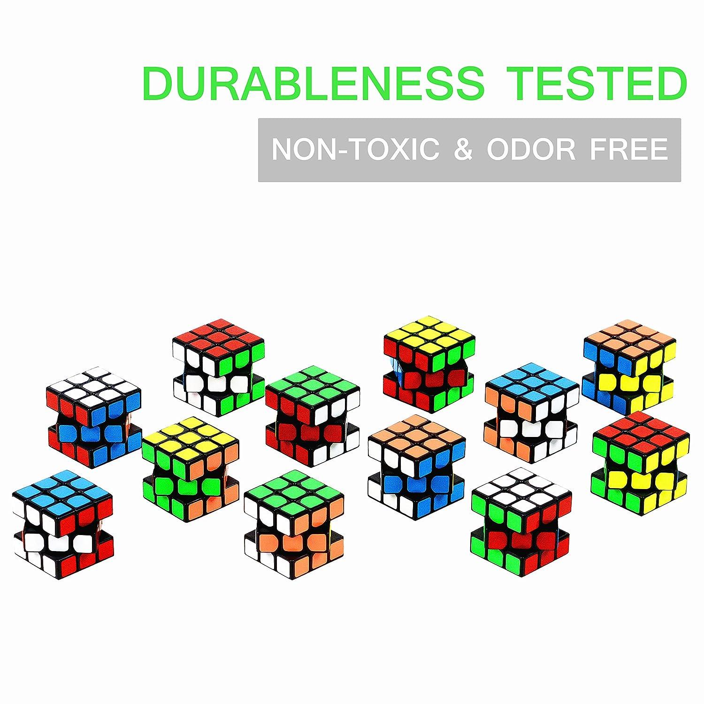 24 Pack Mini W/ürfel Set Party Favors Cuabe Puzzle 1.18 Inch Puzzle Magic Cube umweltfreundliche Safe Material mit lebendigen Farben Nunki Toy Party Puzzle Spielzeug