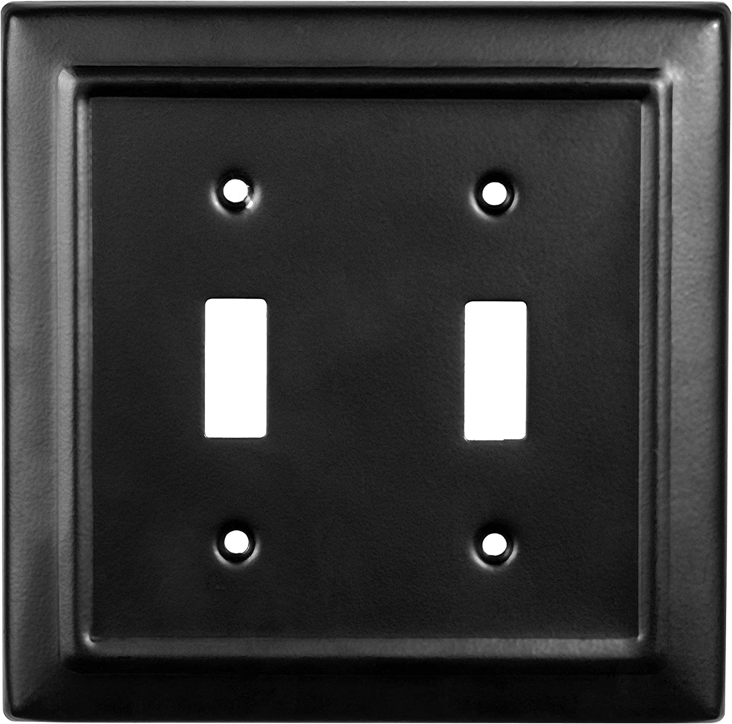 Monarch Abode 19152 Architectural Double Wall Switch Plate 2 Gang Matte Black Amazon Com