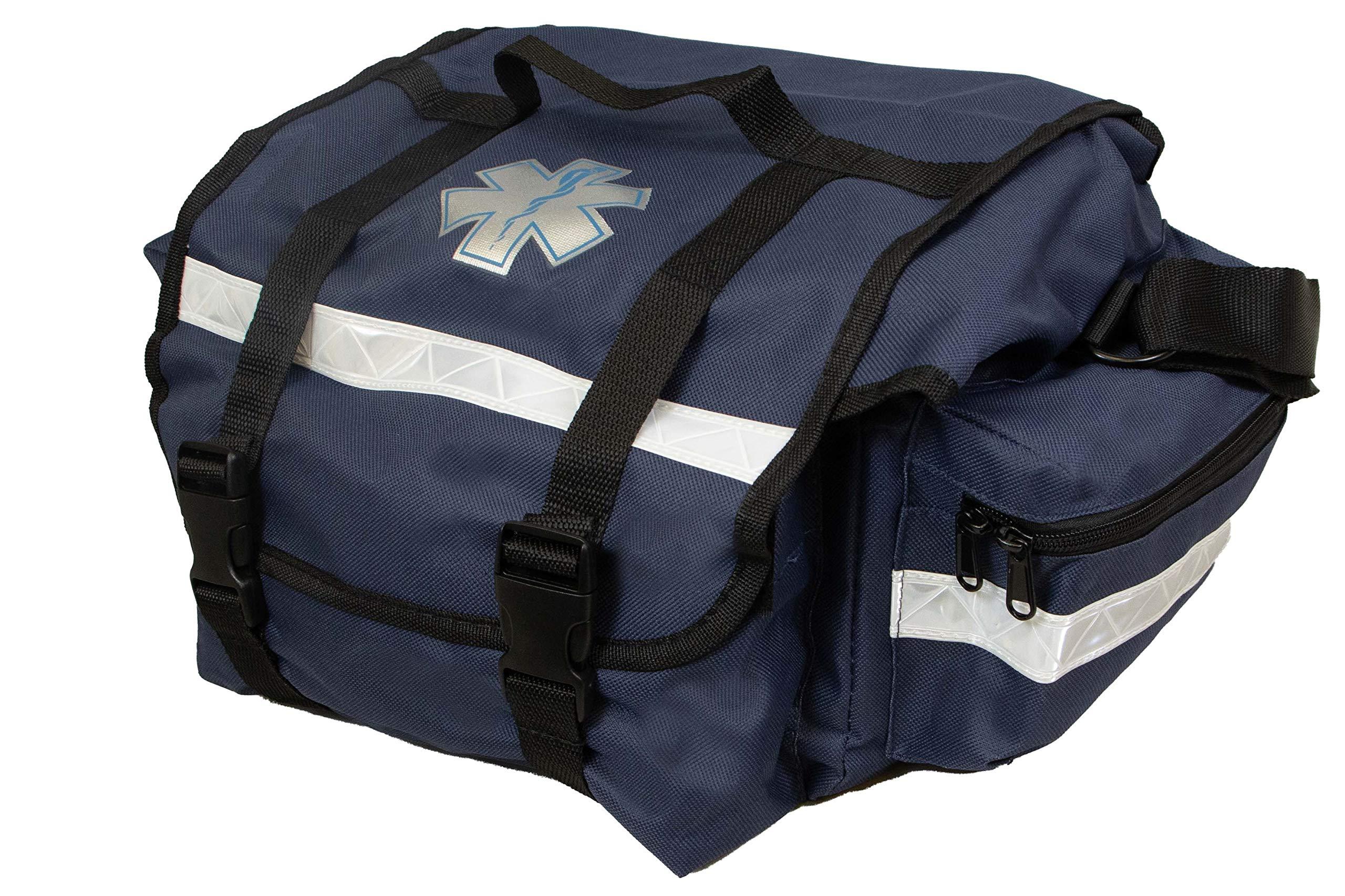 "Primacare KB-RO74-B Trauma Bag, 7"" Height x 17"" Width x 9"" Depth, Blue"