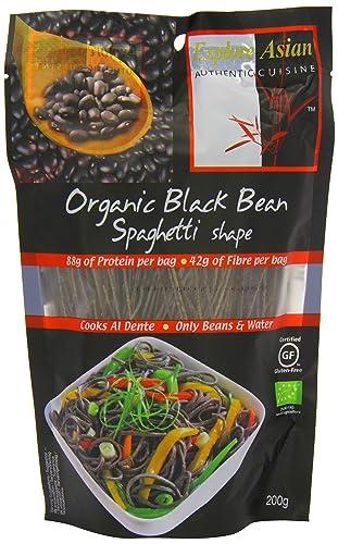 Explore Asian Organic and Gluten Free Black Bean Spaghetti 200 g (Pack of 6)