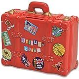 Tirelire vacances en forme de valise Rouge