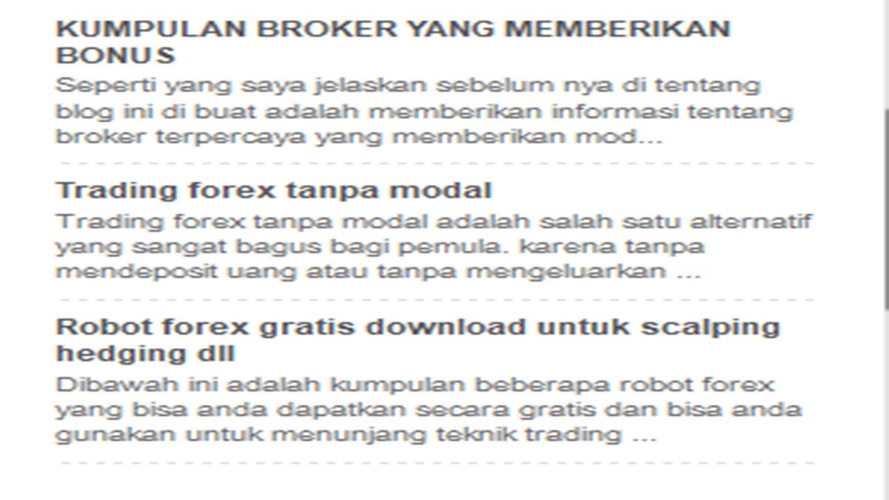 forex yang memrikan modal free 2021