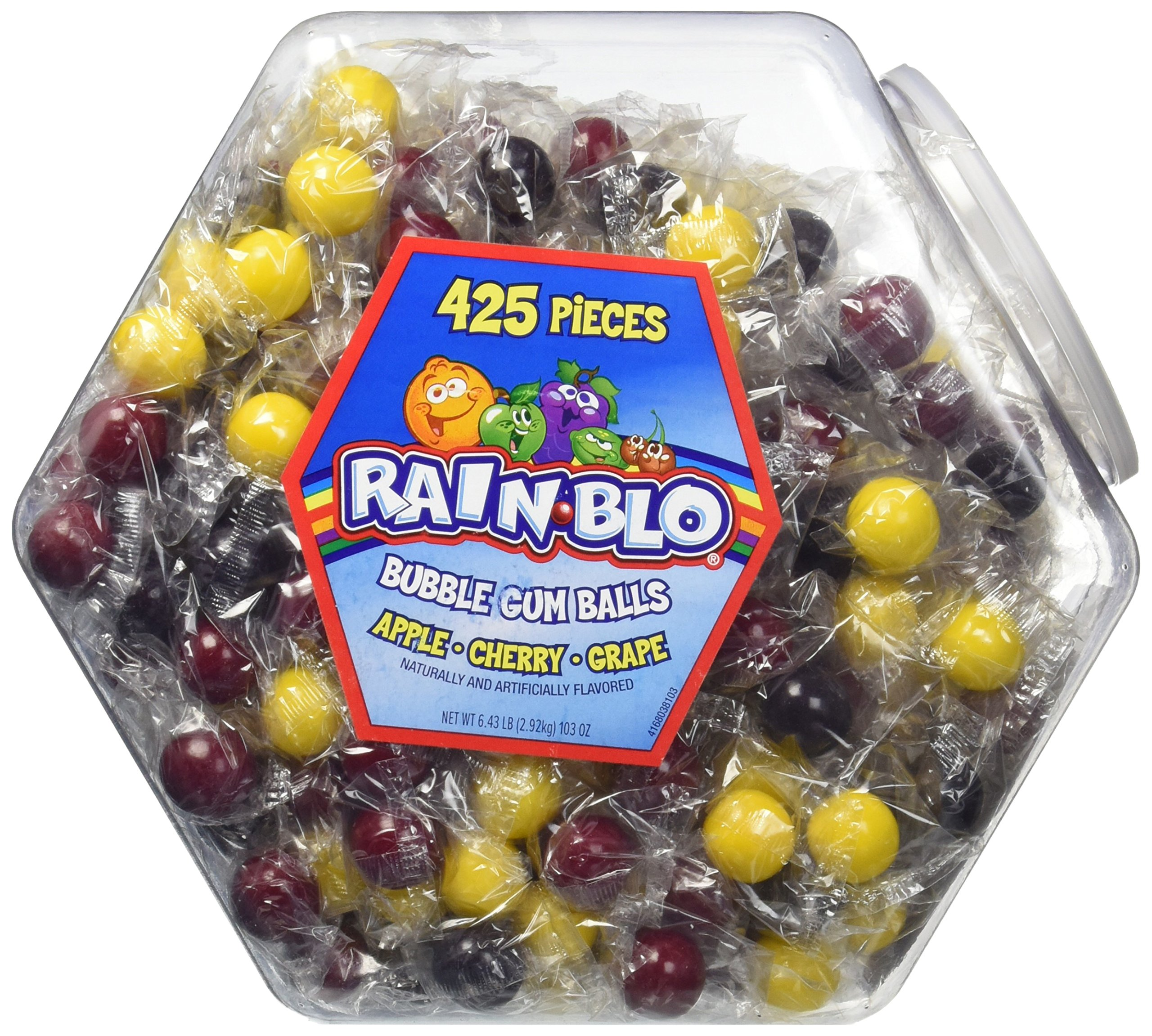 Rain-blo Bubble Gum Balls, 425 Count Jar