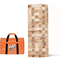 Jenga GIANT JS7 (Stacks to Over 5 feet) Precision-Crafted, Premium Hardwood Game with Heavy-Duty Carry Bag (Authentic…