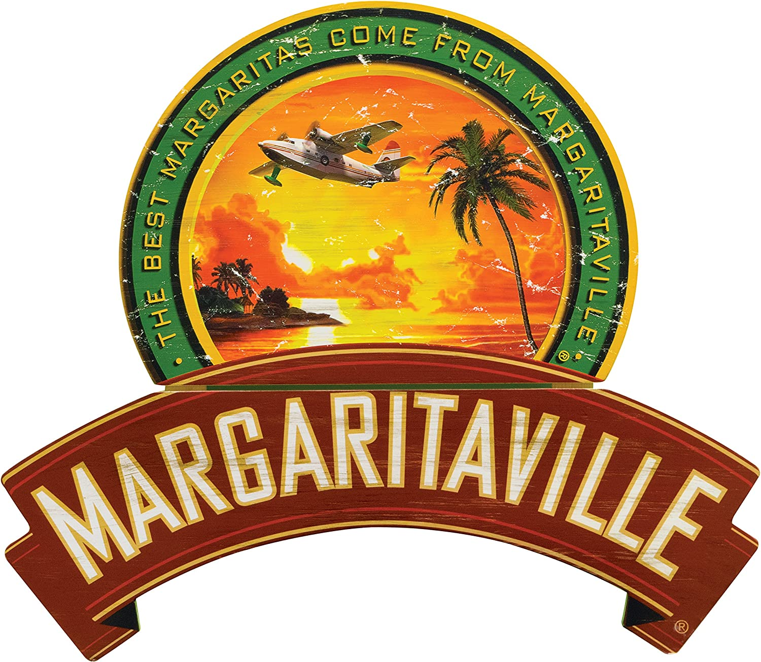 Margaritaville Outdoor Sunset Wood Pool Sign