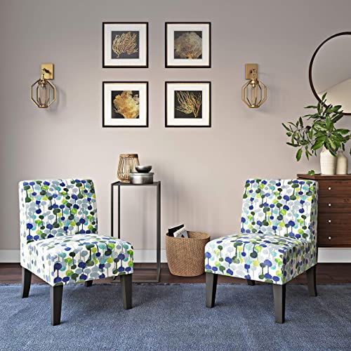 Domesis Set of 2 Upholstered Armless Chairs
