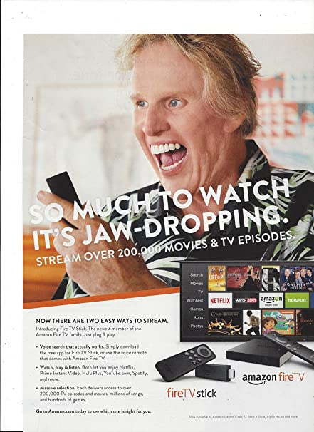 2014PRINT AD With Gary Busey For Amazon Fire TV Stick at Amazon's