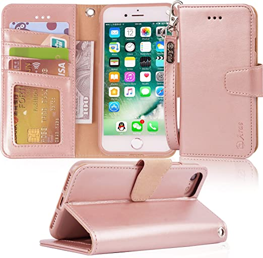 Durable Soft Wallet Cover for iPhone 7 PU Leather Flip Case for iPhone 7