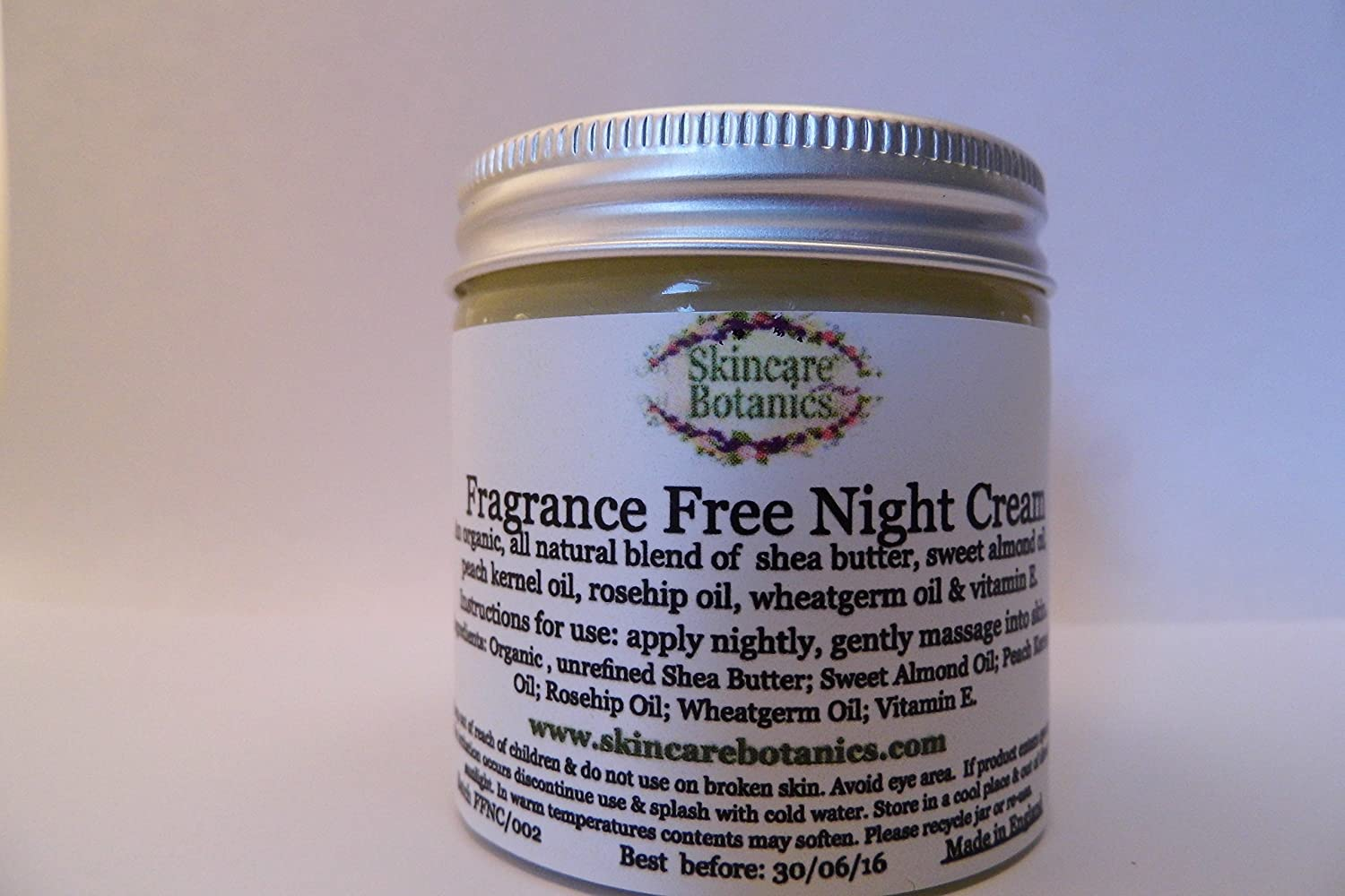 All Natural & Organic Fragrance Free Night Cream Skincare Botanics
