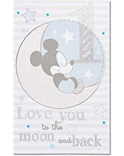 Amazon american greetings mickey mouse birthday card for boy american greetings mickey mouse 1st birthday card for boy 5760224 m4hsunfo