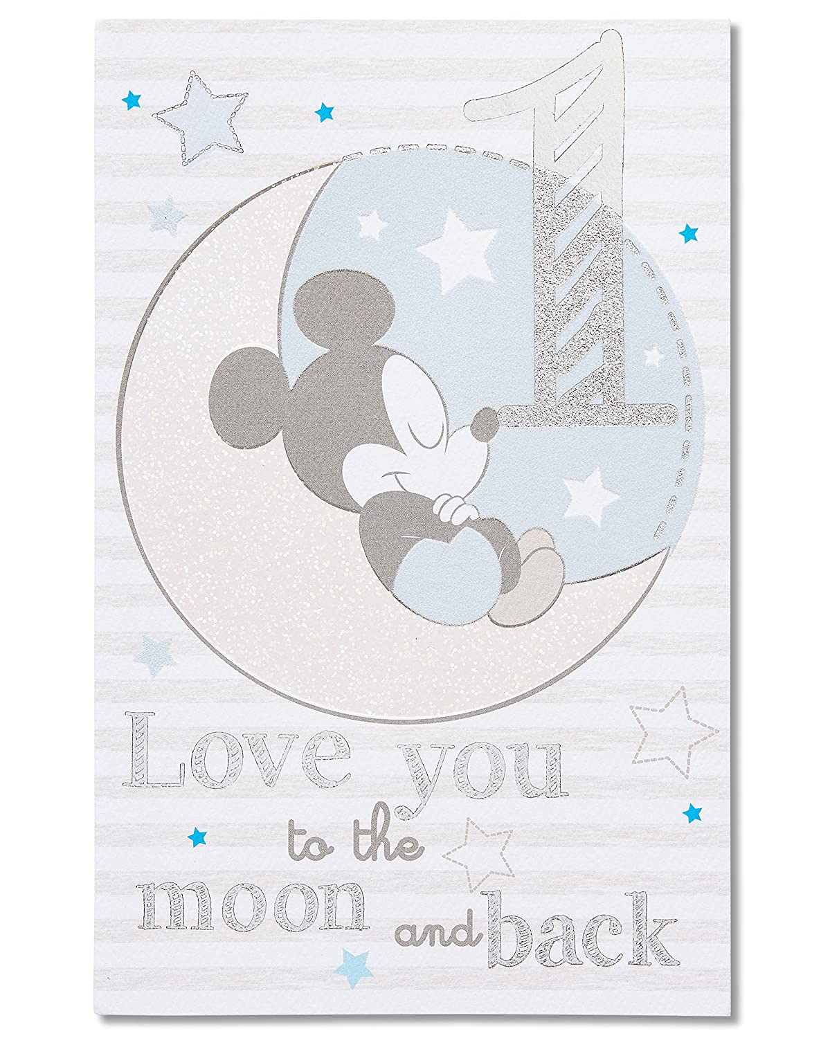 Amazon American Greetings Mickey Mouse 1st Birthday Card For