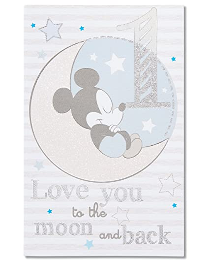 Image Unavailable Not Available For Color American Greetings Mickey Mouse 1st Birthday Card Boy