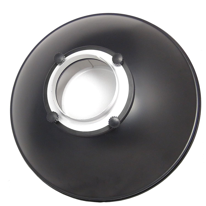 DynaSun S56 R/éflecteur Plateau Beaut/é Argent 56cm avec Grille Nid dabeille Diffuseur et Monture Bowens Type S pour Studio Flash /& Video