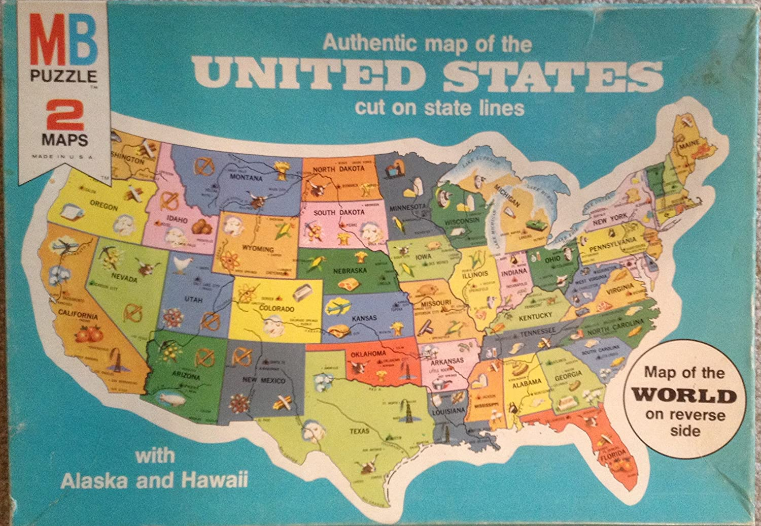 Amazoncom Puzzle Map Of The United States Toys Games - Us map state lines