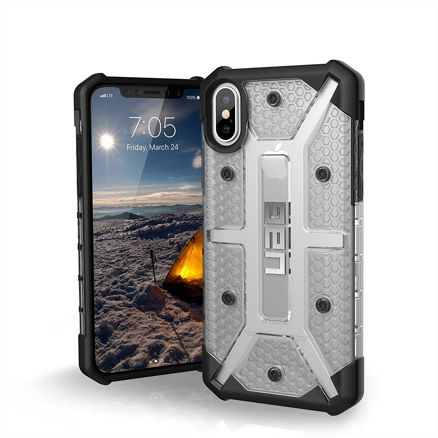 best sneakers 0c830 323d3 URBAN ARMOR GEAR UAG iPhone Xs/X Plasma Feather-Light Rugged [Ice] Military  Drop Tested iPhone Case