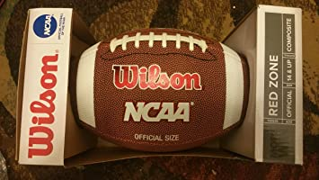 amazon com wilson ncaa red zone official size composite leather