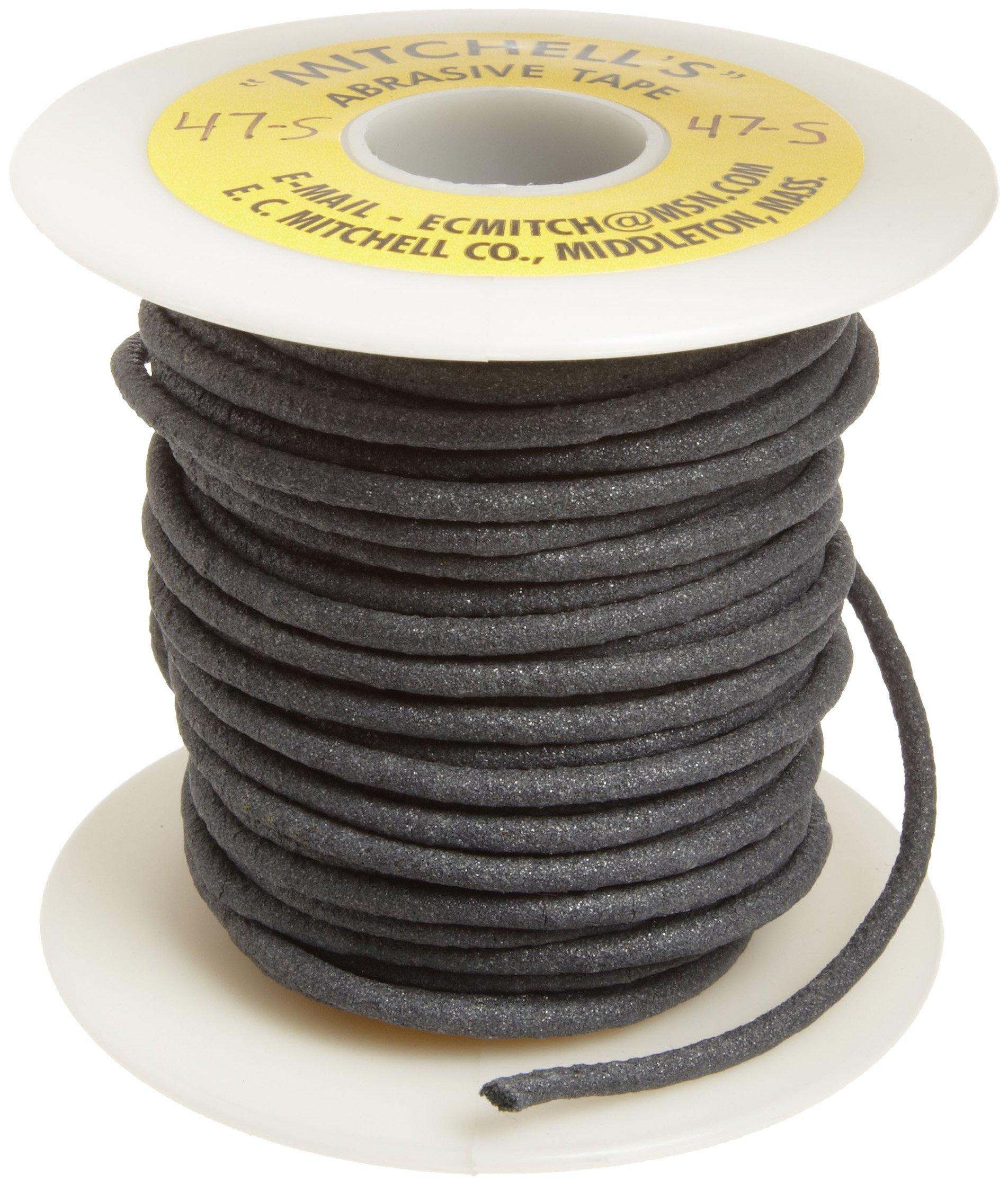 Mitchell Abrasives 47-S Round Abrasive Cord, Silicon Carbide 120 Grit .125'' Diameter x 25 Feet by Mitchell Abrasives