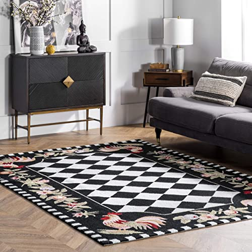 nuLOOM Farmhouse Rooster Area Rug
