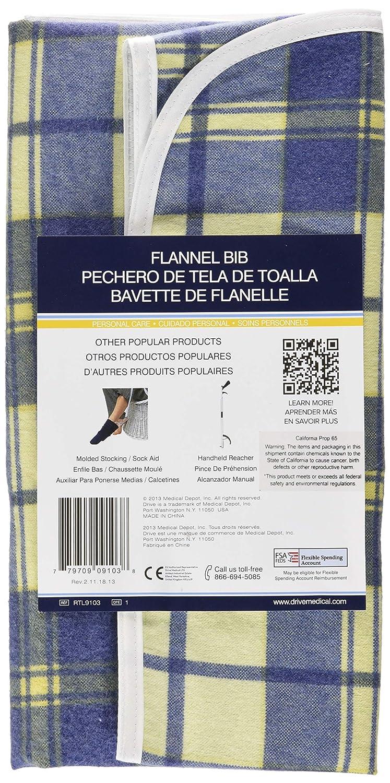 Amazon.com: Lifestyle Essentials Flannel Bib, Plaid, Medium, 22