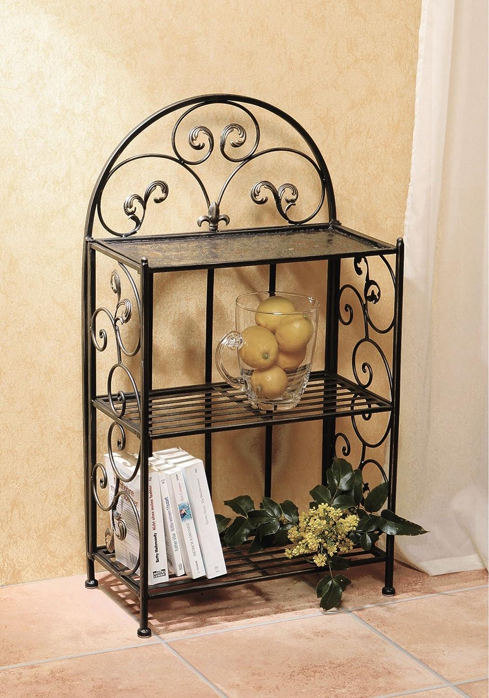 amazoncom metal shelf decorative 32 metal shelf with wrought iron motif folding shelf product sku hd229388 home improvement