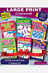 KAPPA Super Saver LARGE PRINT Crosswords Puzzle Pack-Set of 6 Full Size Books Paperback