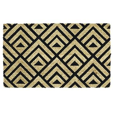 DII Indoor/Outdoor Natural Coir Easy Clean Rubber Non Slip Backing Entry Way Doormat for Patio, Front Door, All Weather Exterior Doors, 18 x 30 - Tri Decco