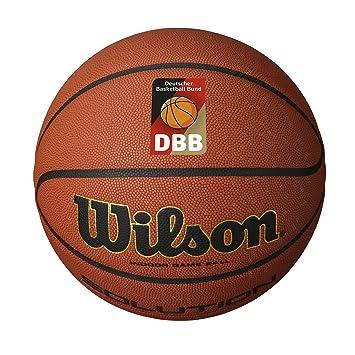 Wilson Pelota de Baloncesto de Interior, Competición, Pavimento Deportivo, Tamaño 7, Solution