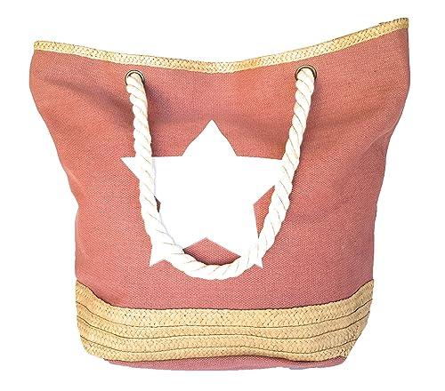 BRANDELIA Bolsos de Playa Grandes de Mujer para Verano, Varios Colores