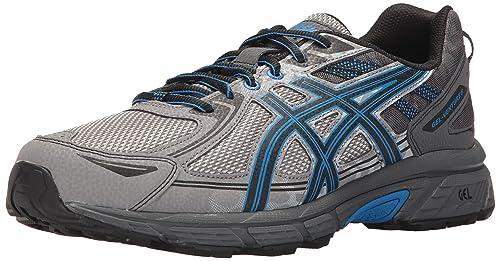 468c268706c7 ASICS Gel-Venture 6 Running Shoe Aluminum Black Directoire Blue 10 4E US