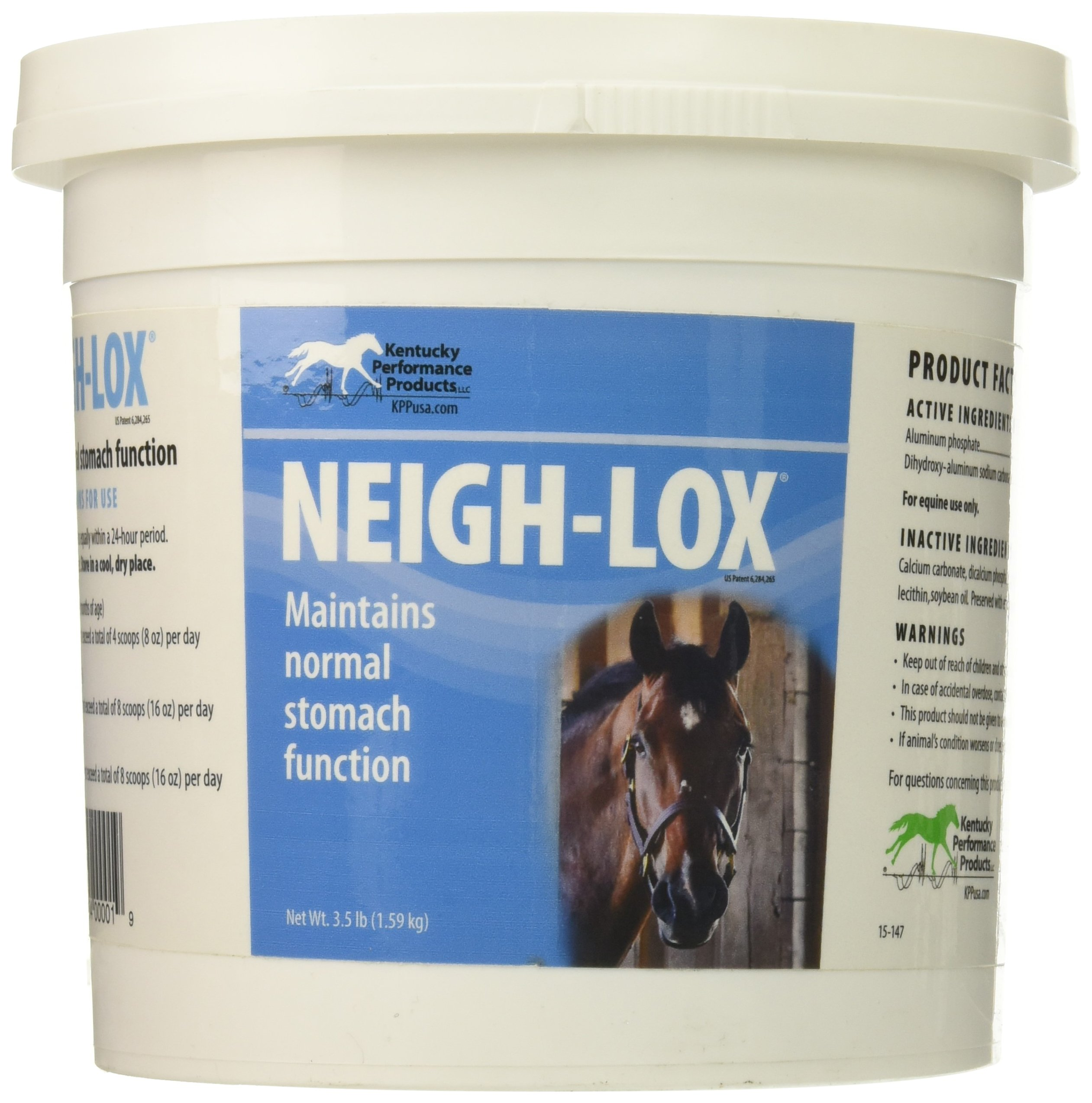 Kentucky Performance Neigh-Lox Digestive Supplement for Horses, 3.5 Pound Container by Kentucky Performance