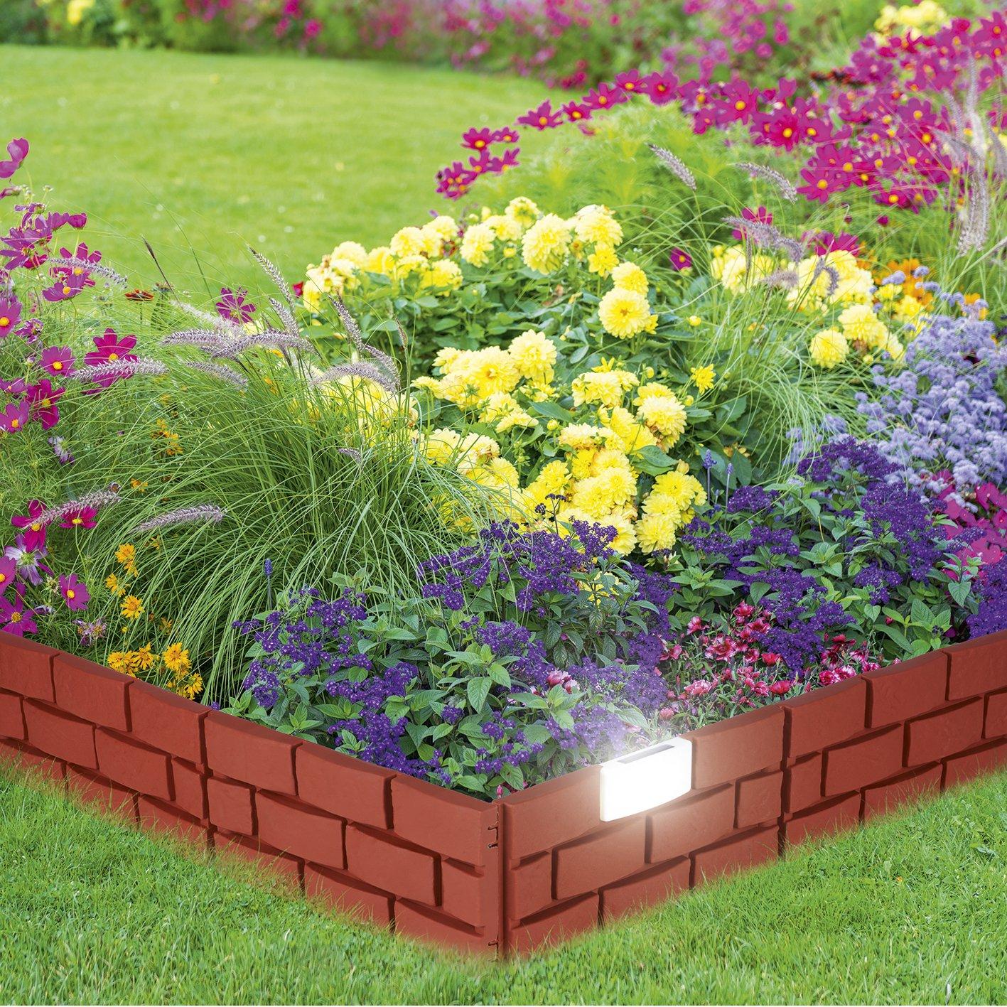 Garten Beetbegrenzung 4 er set beetbegrenzung solar licht garten beleuchtung deko by