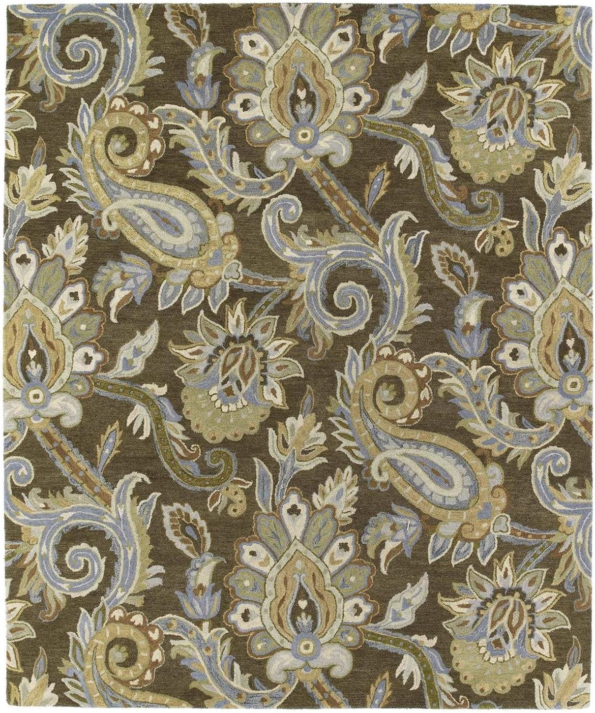 Kaleen Rugs Helena Collection 3204-49 Brown Hand Tufted 9 x 12 Rug